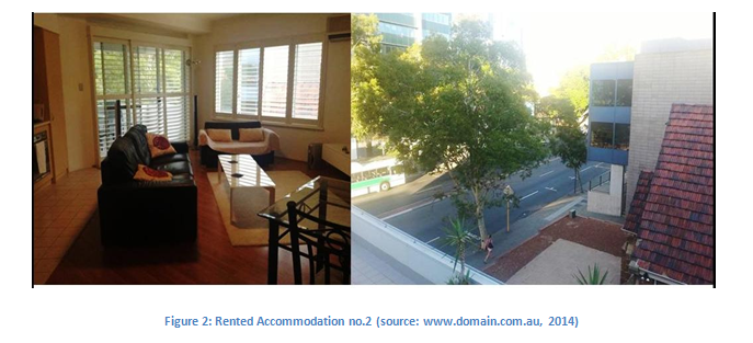 Rented Accommodation no.2 (source www.domain.com.au, 2014)