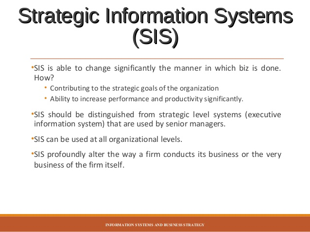 HI5019 STRATEGIC INFORMATION SYSTEMS T2 2017 Assignment 2 (Business Report) Group Assignment