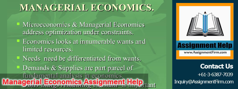 Managerial Economics Assignment Help