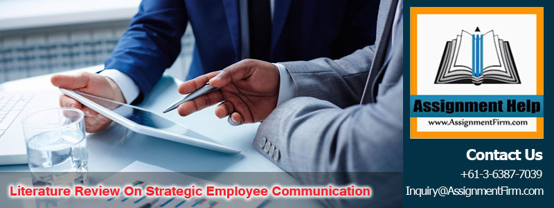 Literature Review On Strategic Employee Communication