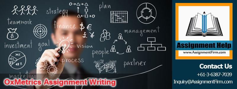 OxMetrics Assignment Writing