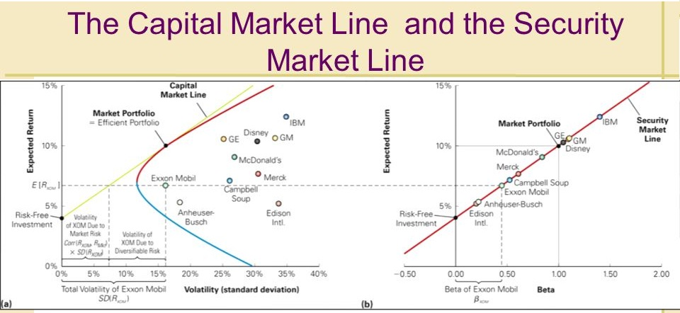 Capital Market Line & Security Market Line