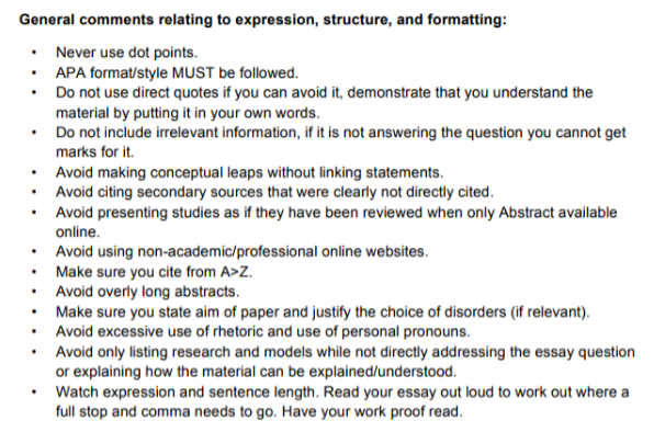 PSY30010 Abnormal Psychology Assignment solution