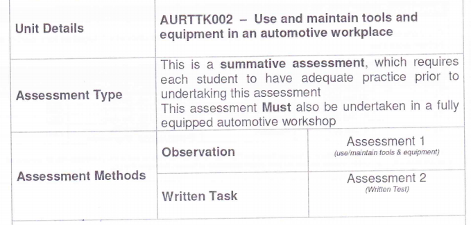 AURTTK001 Use And Maintain Measuring Equipment7