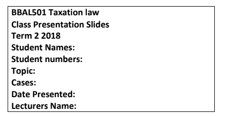 BBAL501_TAXATION LAW