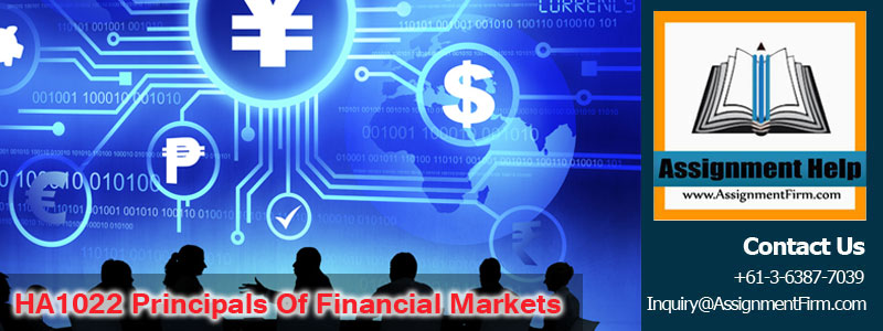 HA1022 Principals of Financial Markets