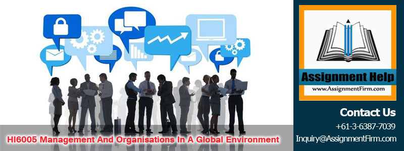 HI6005 Management and Organisations in a Global Environment