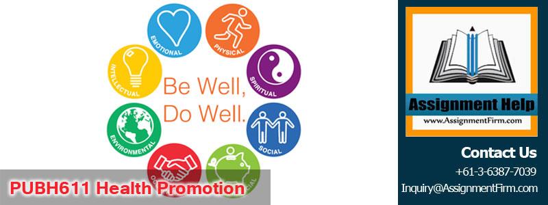 PUBH611 Health Promotion
