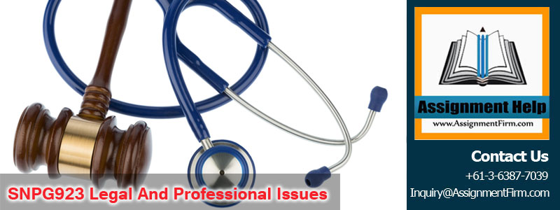 SNPG923 Legal And Professional Issues