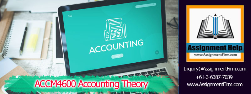 ACCM 4600 Accounting Theory