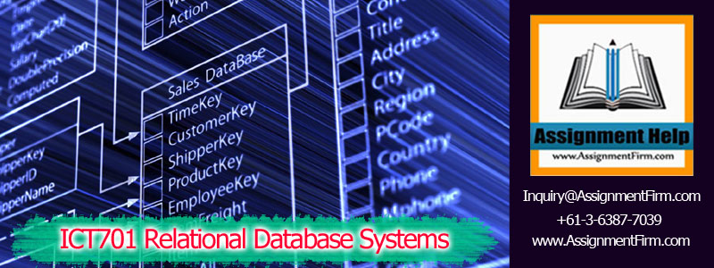 ICT701 Relational Database Systems